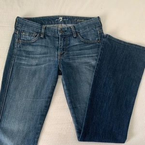 7 for all mankind blue denim jeans